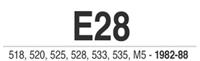 E28/E24 Parts