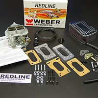 Genuine Redline Weber Downdraft and Sidedraft conversion kits For Cars and Trucks by Vehicle.