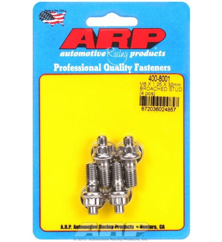 ARP Hardware - M8 X 1.25 X 32mm broached stud kit - 4pcs