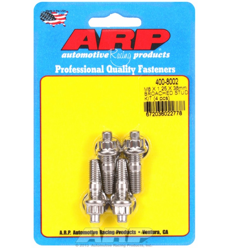 ARP Hardware - M8 X 1.25 X 38mm broached stud kit - 4pcs