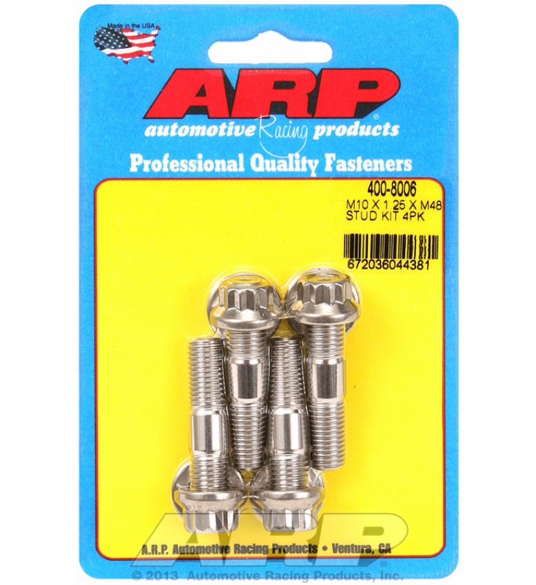 ARP Hardware - M10 X 1.25 X 48mm broached stud kit 4pcs