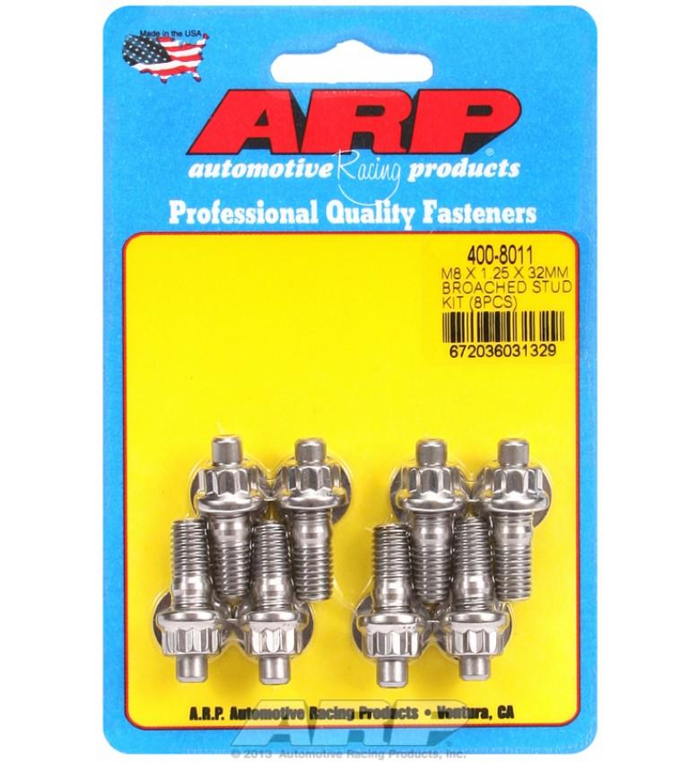ARP Hardware - M8 X 1.25 X 32mm broached stud kit - 8pcs