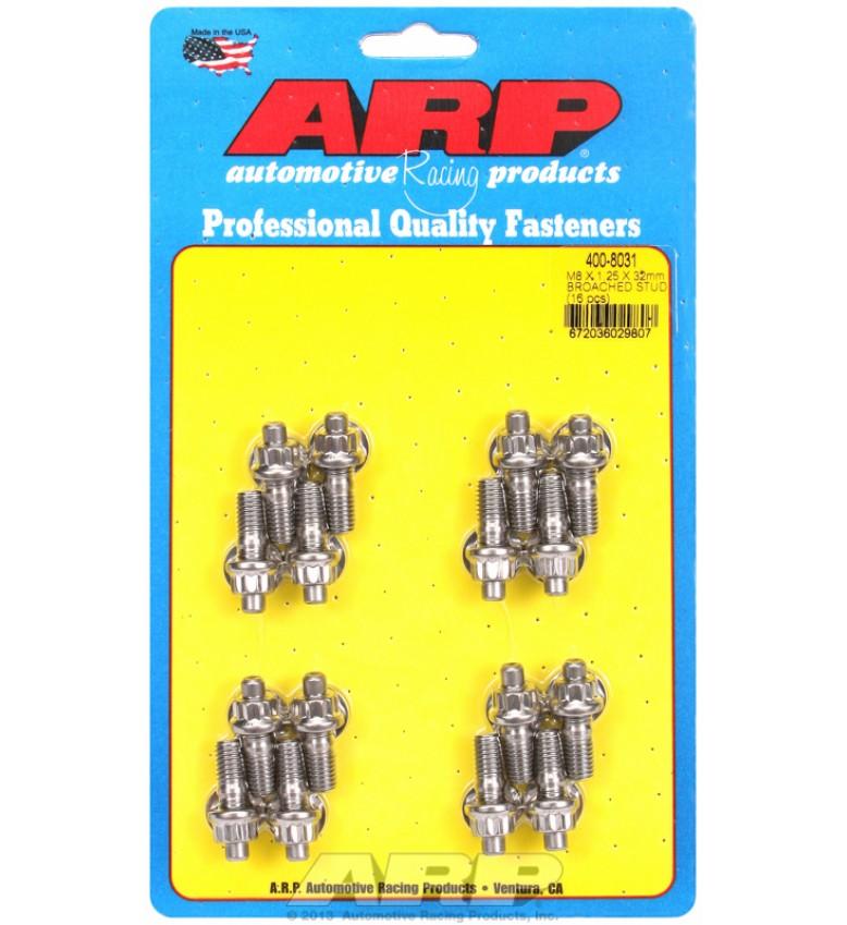 ARP Hardware - M8 X 1.25 X 32mm broached stud kit - 16pcs