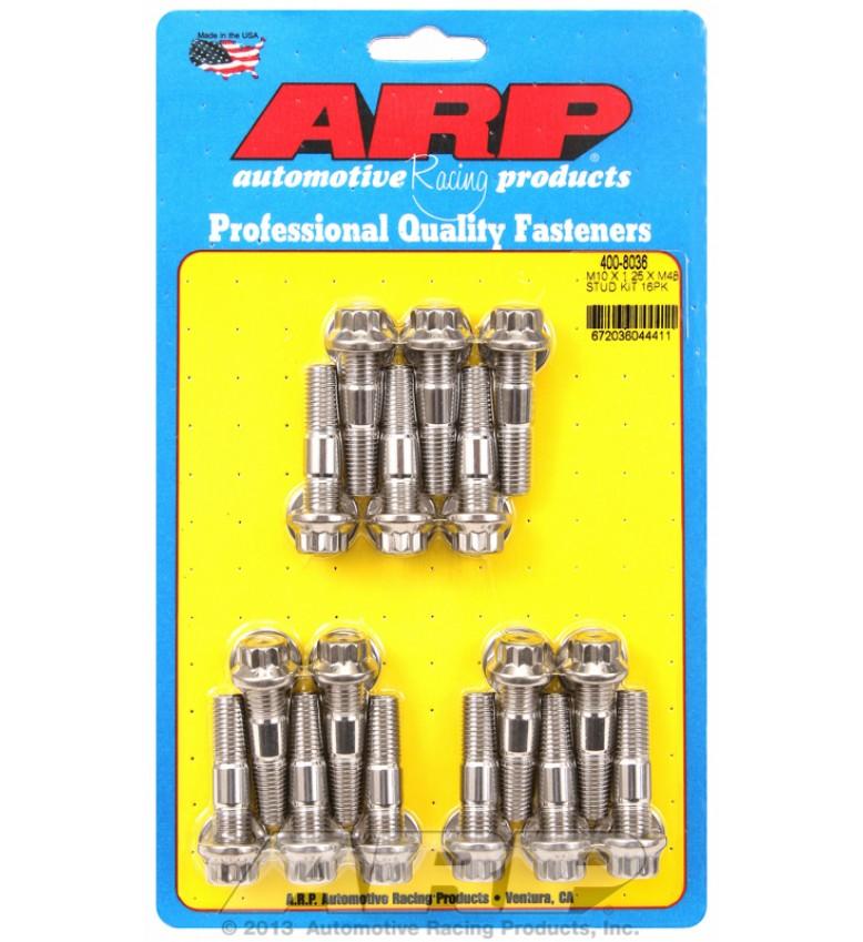 ARP Hardware - M10 X 1.25 X 48mm broached stud kit 16pcs