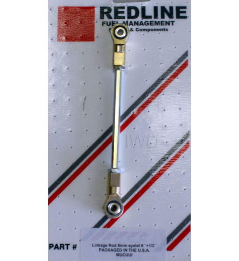 "Adjustable LINKAGE ROD, 8mm eyelet 4 1/2"" - 5 1/2"""