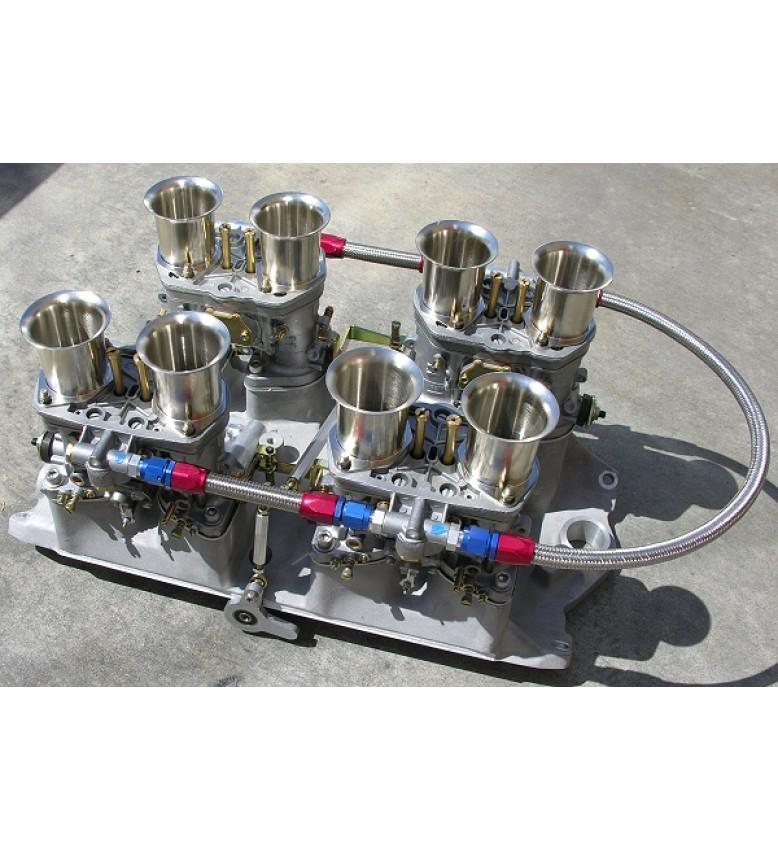 Chev V8 BB Sqr/Oval Ports, 4x48-IDA