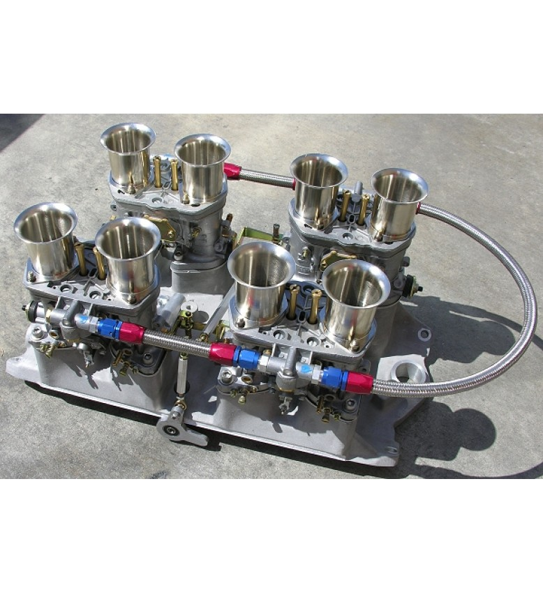 Big Block Chevy Weber 48 IDF MANIFOLD and LINKAGE ONLY