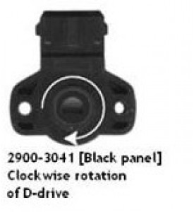 Throttle Position Sensor, Clockwise, Black Panel  LESS PLUG AND PINS