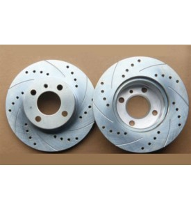 Vented Brake Rotors, Cross-drilled - E21 320i/323i Front