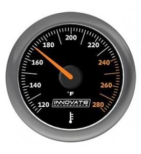 Innovate Motorsports - MTX Analog, Fluid Temp (oil, water, etc) Gauge Kit, Black Dial *NEW!