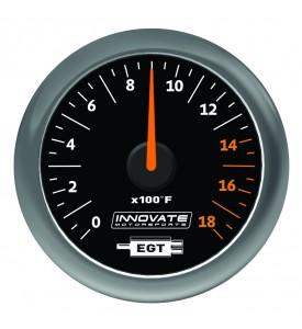 Innovate Motorsports - MTX Analog, Exhaust Gas Temperature (EGT) Gauge Kit, Black Dial *NEW!
