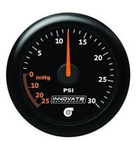 Innovate Motorsports - MTX Analog, 30 PSI Vacuum/Boost, Black Faceplate Gauge Kit *NEW!