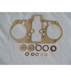 GASKET KIT, Italian w/leather seals, 48-IDA