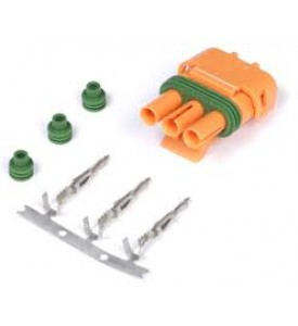 Plug and Pins Only - Delco Weather Pack 3 pin GM Style MAP Sensor Connector - Orange suits HT-010104 - 3 Bar GM MAP Sensor HT-010106 - 4 Bar GM MAP Sensor