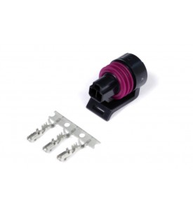 Plug and Pins Only - Matching Set of Deutsch DTM 6 Connectors (7.5 Amp) (includes Male Plug, Female Receptacle/Socket, Wedgelocks, Seals, Male & Female Pins)