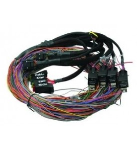 Elite 750 - 2.5m (8 ft) Premium Universal Wire-in Harness Only Includes firewall grommet, moulded 6 power circuit Haltech fuse box & lid. Includes 2 relays, 4 fuses. (inc pins for the 4 spare power circuits)