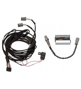 Haltech WBC2 - Dual Channel CAN Wideband Controller Kit Box A with 2.5m/8ft flying lead harness, Black 600mm CAN cable, two sensors and weld-on bungs