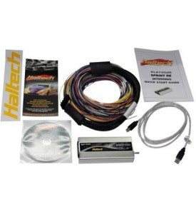 Haltech Platinum Sport 2000 Autospec Universal Wire-in Harness Kit Long 2.5m/8ft with 6 circuit Haltech fuse box with lid.  Includes fuses, 4 relays and pins to use the spare 2 circuits (includes CD and USB coms cable)