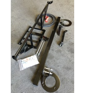 BMW 2002 Front Single Tube Brace with Engine Torque Brace and Rear Shock brace with Battery Relocation kit