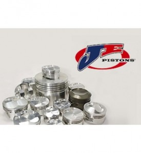 6 Cylinder JE Custom Forged Piston Set - All Dish, Flat or Dome Top - with valve pockets
