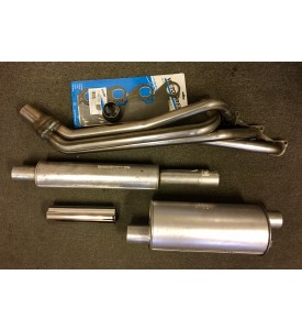 BMW M10 LONG Headers 2002 or 320i WITH Exhaust Components.