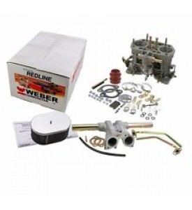 MANIFOLD KIT THROTTLE BODY w/plenum, Frd 351W, 50-IDA, linkage, stacks, regulator