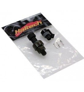 "Haltech 150 PSI  ""TI"" Fuel/Oil Pressure Sensor 1/8 NPT (inc plug & pins, -4 AN & 5mm hosetail adaptors)"