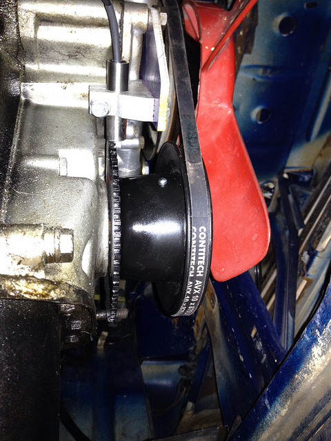 2002 Single Groove Pulley with crank trigger mounted